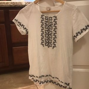 J. Crew Embroidered Shirt